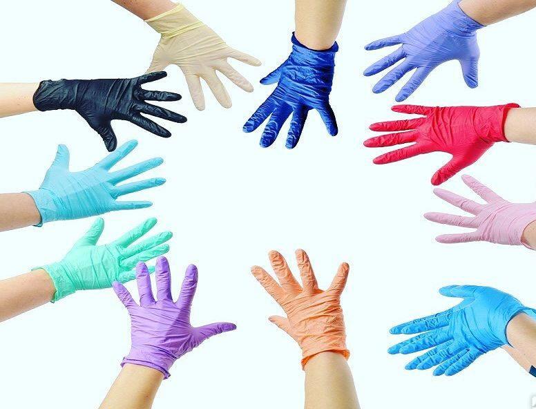 Виды одноразовых перчаток